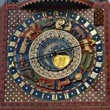Gdansk astronomisk klocka Arkivbilder