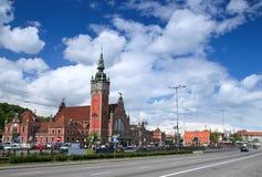 Gdansk-Bahnhof Stockbilder
