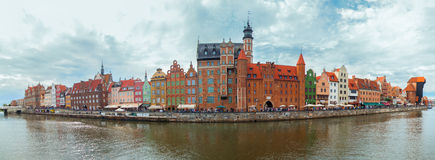 Gdansk old city panorama, Poland Royalty Free Stock Image