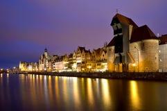 Gdansk bij nacht Stock Foto
