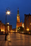 Gdansk bij nacht Royalty-vrije Stock Afbeelding