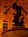 Gdansk bis zum Nacht Stockbild