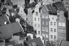 Gdansk black white Royalty Free Stock Photography