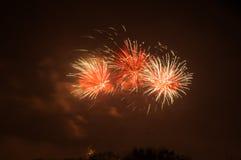 Gdansk celebra Año Nuevo con los fuegos artificiales de la víspera Imagen de archivo