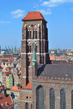 Gdansk. Church of St. Mary Stock Photography