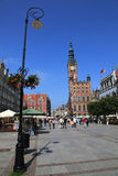 Gdansk city hall. Most famous building and street in Gdansk (town hall on Dluga Street Stock Photography