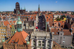 Gdansk City  Panorama Stock Photography