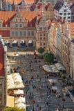 Gdansk city panoramic view Stock Photos
