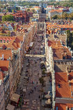 Gdansk city panoramic view Royalty Free Stock Images