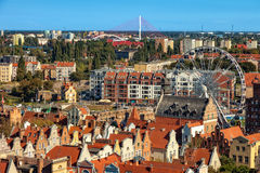 Gdansk city panoramic view Royalty Free Stock Photos