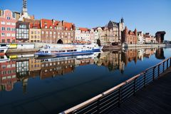 Gdansk City Skyline in Poland Royalty Free Stock Photo