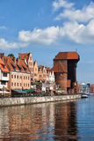 Gdansk City Skyline River View Royalty Free Stock Photo