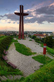 Gdansk city view point. View from gradowa mountain in Gdansk, Poland Stock Image
