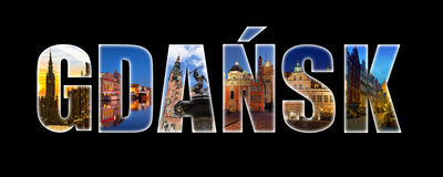 Gdansk collage Royalty Free Stock Photo