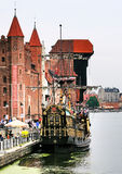 gdansk dźwigowy port obrazy royalty free