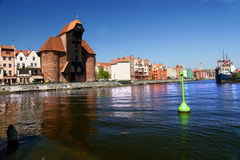 Gdansk, Danzig, Poland famous wooden crane Royalty Free Stock Photography