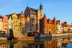 Gdansk den gamla staden Arkivfoton