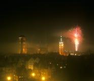 Gdansk em a noite fotografia de stock royalty free