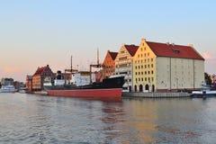 Gdansk en el crepúsculo Fotografía de archivo libre de regalías