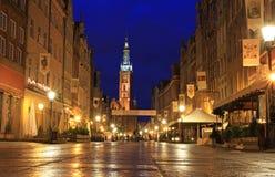 Gdansk en la noche Imagenes de archivo