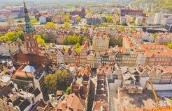 Gdansk en la opinión del ojo de pájaro Fotos de archivo