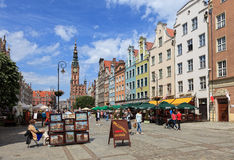 Gdansk during the Euro 2012 Championship Stock Photography