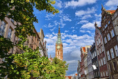 Gdansk with famous street in Poland Stock Photos