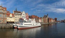 gdansk flodstrand arkivbilder