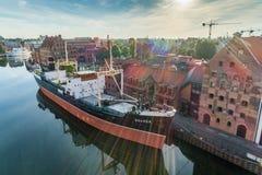 Gdansk flyg- sikt fotografering för bildbyråer