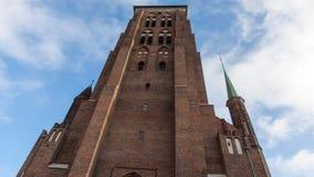 Gdansk gammal stad i Polen Arkivfoto