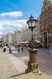 Gdansk-gammal Stad-lång marknadsgata Arkivbilder