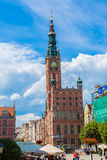 Gdansk-gammal Stad-lång marknadsgata Royaltyfri Foto