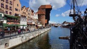 Gdansk gammal stad på det baltiskt Fotografering för Bildbyråer