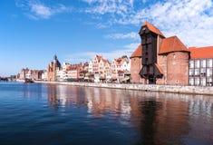 Gdansk gammal stad, Polen Royaltyfri Fotografi