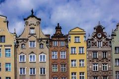 gdansk gammal town Arkivfoton