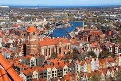 gdansk gammal town Arkivbilder