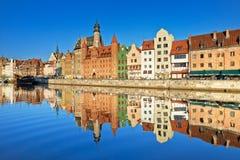 Gdansk gammal town, Polen Arkivfoton