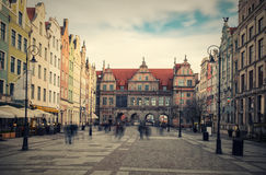 Gdansk gräsplanport Arkivfoto