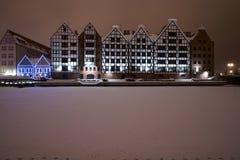 gdansk granaries Royaltyfria Bilder