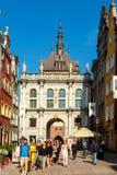 gdansk guld- port Arkivfoto