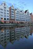 Gdansk, half-timbered houses on the river Motlawa Stock Photo
