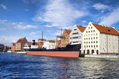 Gdansk with harbor in Poland. Cityscape of Gdansk with harbor in Poland Royalty Free Stock Photography