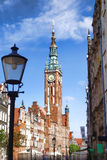 Gdansk with harbor in Poland. Cityscape of Gdansk with harbor in Poland Stock Photos
