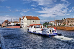 Gdansk with harbor in Poland. Cityscape of Gdansk with harbor in Poland Royalty Free Stock Photos