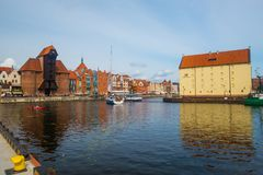Gdansk harbor in Poland Royalty Free Stock Photos