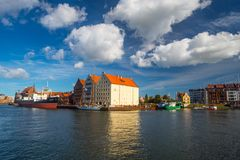 Gdansk harbor in Poland Stock Photo