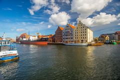 Gdansk harbor in Poland Royalty Free Stock Image