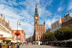 gdansk Het gebied van Lange Markt Royalty-vrije Stock Afbeeldingen