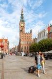 gdansk Het gebied van Lange Markt Royalty-vrije Stock Fotografie