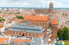 Gdansk. The historic center of the old town. Stock Photos